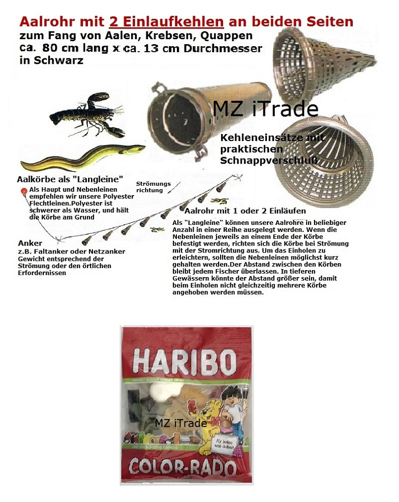 2 Aalrohr Aalkorb Aalreuse Aalreusen Reuse Krebsreuse Krebskorb Crab Eel trap 80
